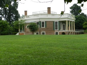 3/4 View of the main house at Poplar Forest