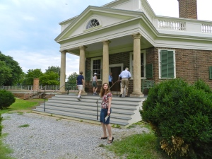 Front portico of Poplar Forest