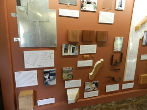 A nice display showing some of the restoration efforts that have been going into the site.