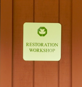 Restoration Workshop Sign