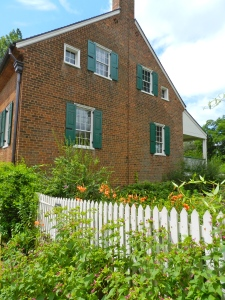Some of the beautiful gardens that are part of Old Salem Museums and Gardens