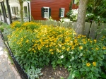 One of the many beautiful gardens at Old Salem