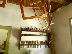 Window sash, drill bits, and chisel rack