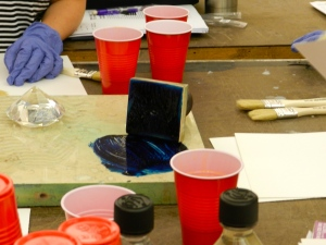 Mulling historic paint with Sara Chase