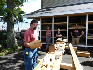 Rich Friberg Timber Framing Lesson