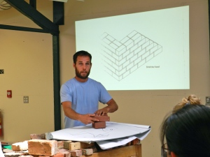 Matt Gillard teaching some basics of Masonry
