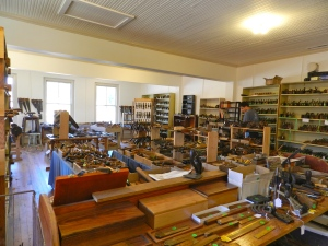 Wide angle view of Ed's Antique Tool Store