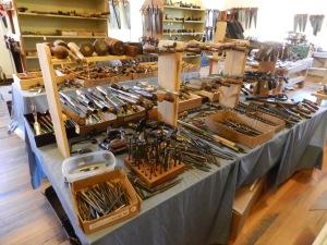 Chisels, mallets, auger bits etc.