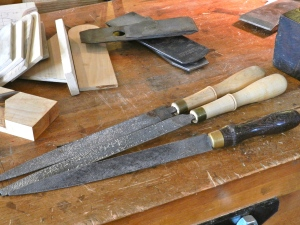 Auriou rasps used to shape the handle -- they were a pleasure to use