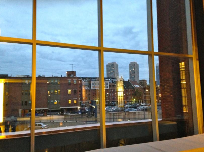Nice view from the atrium.