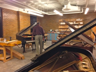 Piano technology and repair classroom