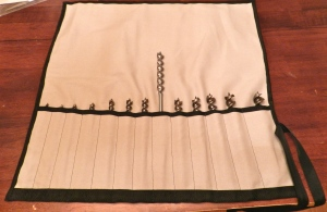 Completed Auger Bit Tool Roll