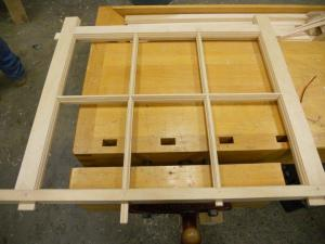 Hand made window sash