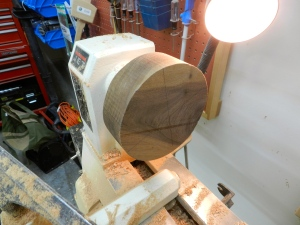 Bowl blank ready for turning
