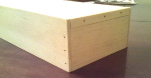 Chisel box with cut nails