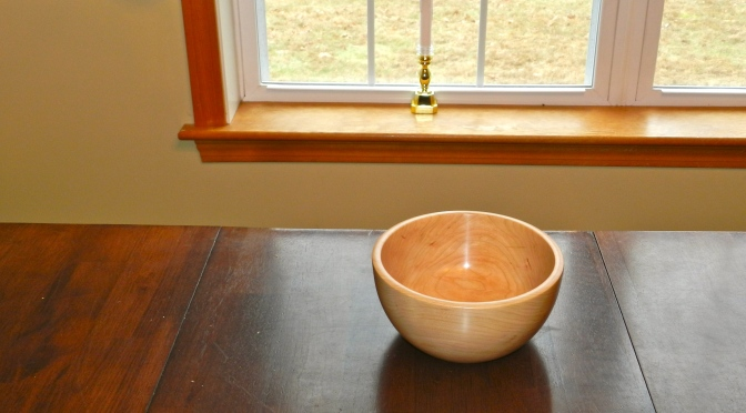 Completed Cherry Bowl