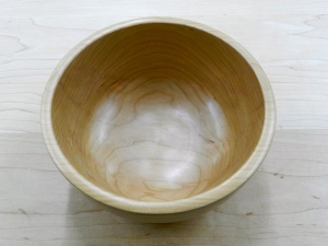 Grain detail of the turned Cherry Bowl