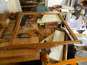 Small frame saw in the Joiner's Shop