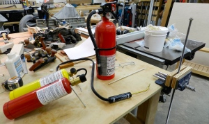 Mapp + Oxygen cutting and welding torch used for brazing
