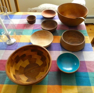 A sampling of Tage's bowl turning