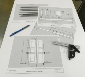 Shop plans for my Shutters Workshop