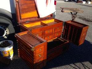 Incredible telescoping tool chest (for sale by Patrick Leach)