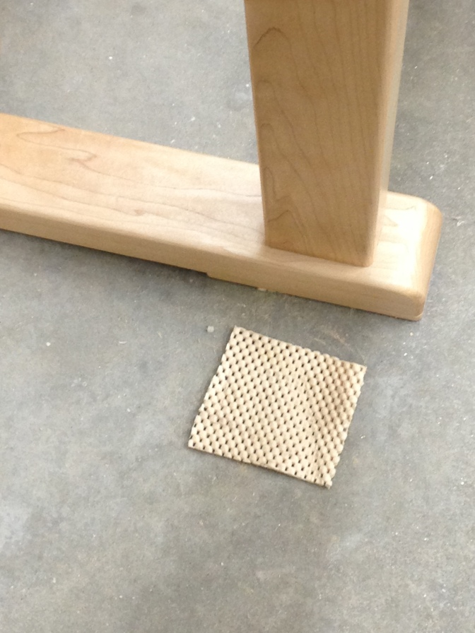 Rubber mat can help your bench stay put