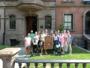 Group Picture in front of the Gibson House Museum