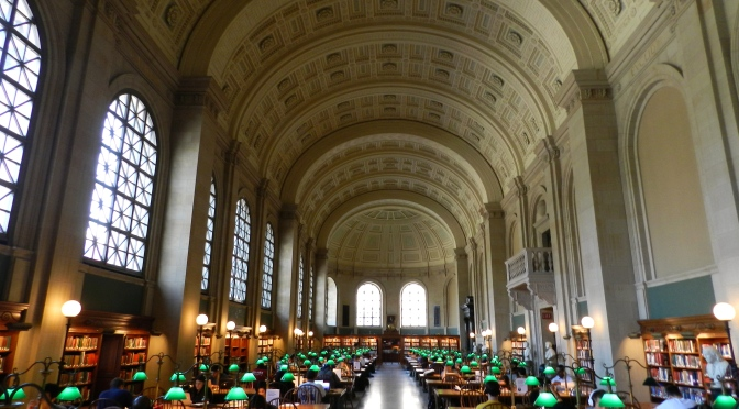 The Main Reading Room at the Boston Public Library