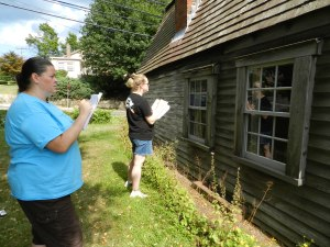 Stephanie and Patti working on Window Condition Reports
