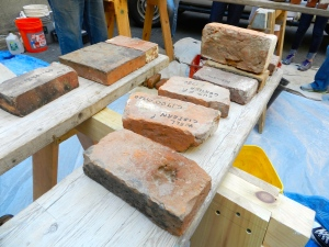 A sampling of historic bricks from Richard's collection
