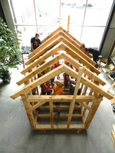 Another view of the indoor frame