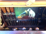 The RCA Dog likes to hear the sounds of woodworking tools
