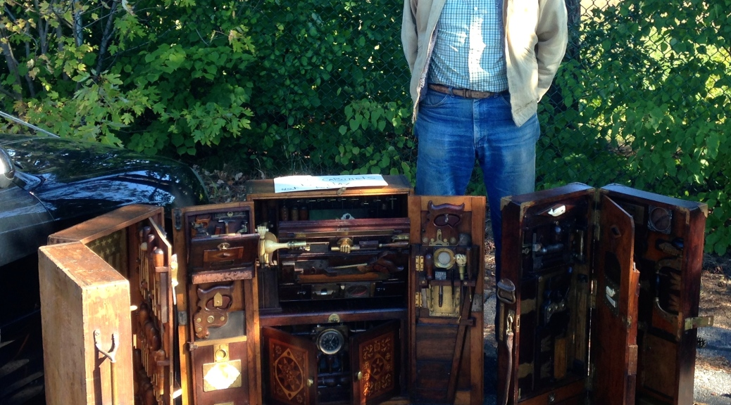 Bill Garrett and his tool cabinets