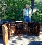 Bill Garrett and his tool cabinets