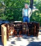 Bill Garrett with his tool cabinets