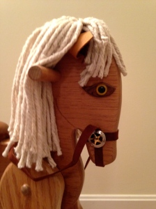 Close Up Of Rocking Horse Head