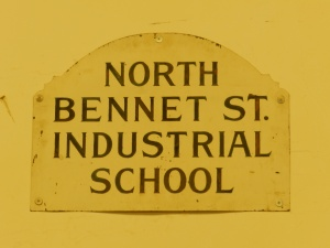 Old North Bennet Street Industrial School Sign