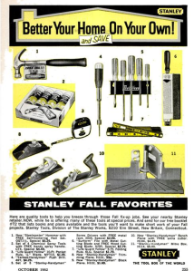 Stanley H104 in Ad From 1962
