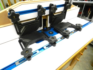 Extensive use of feather-boards on the router station