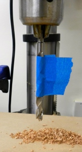 Blue tape depth stop