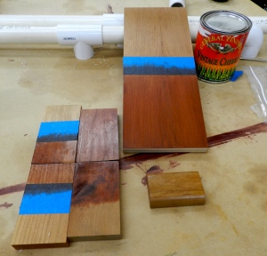 Trying my favorite stain from the last round, but trying it out with garnet shellac