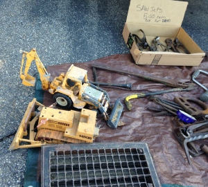 1980s Ertl Metal Case Backhoe