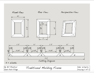 Picture Frame Cutting Diagram