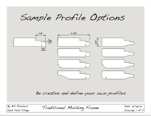 A sampling of how a few simple profiles can generate a large variety of frames.