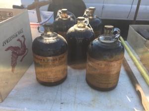 Jugs of Johnson's Wood Dye