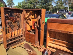 Tool chests displayed by Bill Garrett of Sparrowbush NY