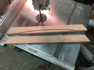 Cutting the curves on the band saw