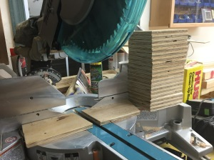Mass producing gusset plates.