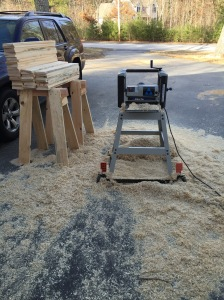 Lunchbox planer getting a workout